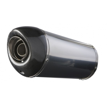 Pair of silencers Exan KAWASAKI Z1000 oval carbon cap Stainless Steel,Black Stainless Steel,Titanium or Carbon Finishing - 3