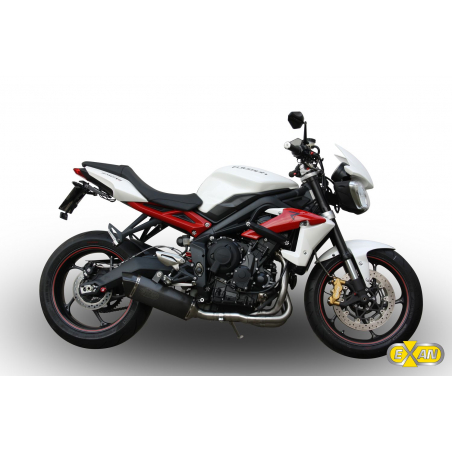 Complete line Exan TRIUMPH Street-Triple X-Black oval Stainless Steel,Stainless Steel Black,Titanium or Carbon Finishing - 1