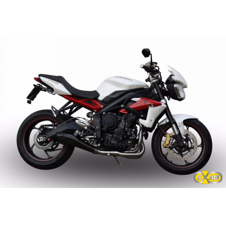 Exhaust system Exan TRIUMPH Street-triple X-Black evo Stainless steel or Stainless steel Black finish - 1