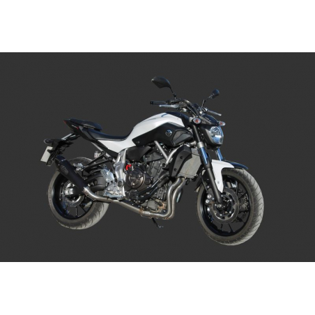 YAMAHA MT07 -  X-Black Conical EXAN exhaust system Stainless/Black/Titanium finish - 1