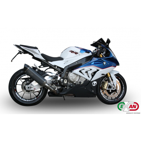 Exan BMW S1000RR X-Black oval, titanium collector exhaust system - 1