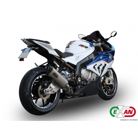 Exan BMW S1000RR X-Black oval, titanium collector exhaust system - 3