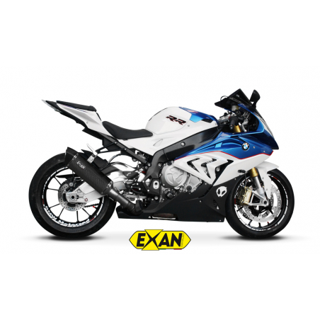 Exan BMW S1000RR X-Black oval, titanium collector exhaust system - 5