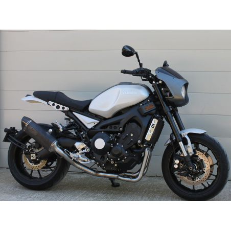 XSR 900 EXAN-X Black Oval complete exhaust line - 1