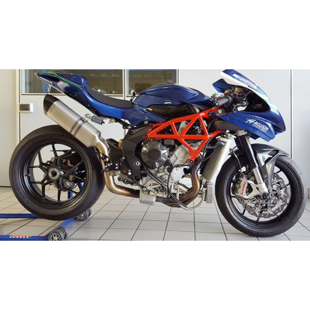 Exan complete exhaust system for MV AGUSTA BRUTALE 800 X-Black Oval Stainless steel/ black stainless /Titanium or Carbon - 11
