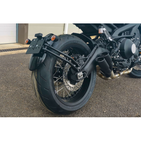 SCRAPER REAR MUDGUARD KIT WITH SUPPORT - 1