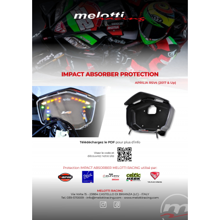 APRILIA RSV4 (2017 & Up) DASHBOARD PROTECTION – IMPACT ABSORBER - 7