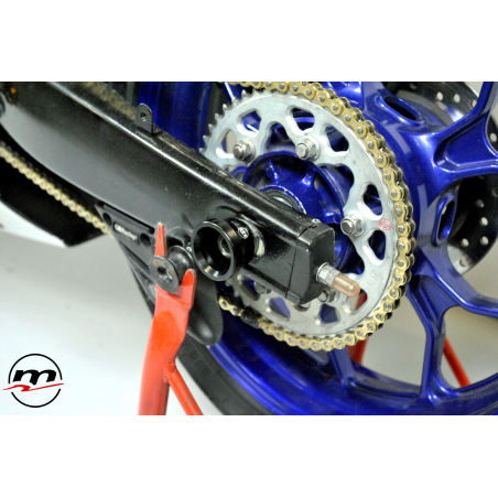 WHEEL AXLE SLIDERS WITH RETAINING SYSTEM ON PINS AND NUTS - 5