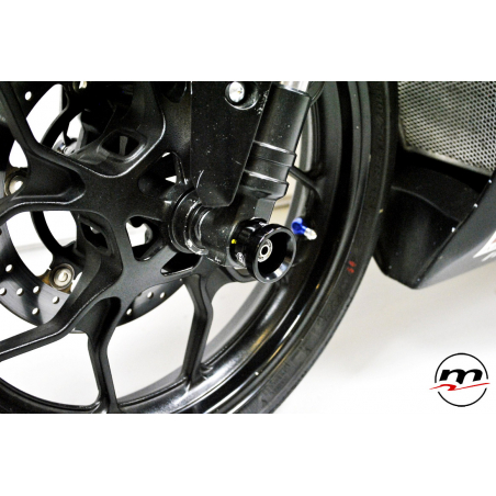 WHEEL AXLE SLIDERS WITH RETAINING SYSTEM ON PINS AND NUTS - 7
